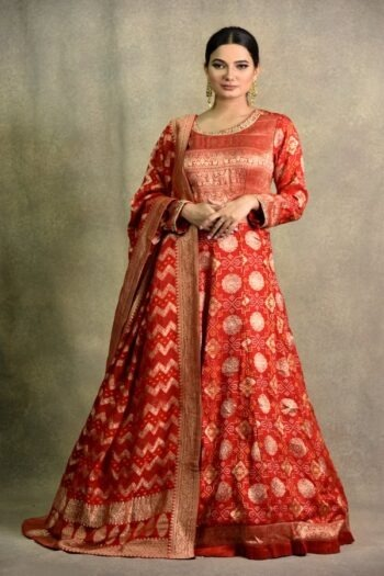 Red Anarkali Dress | Surya Sarees | House of surya | chandni chowk | Old Delhi