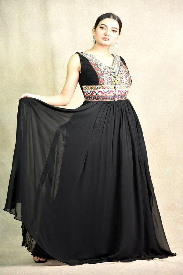 Black Gown Dress | Surya sarees | House of Surya