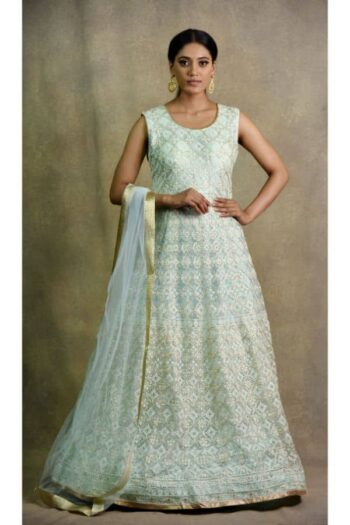 Surya Sarees | Light Firozi Anarkali Dress
