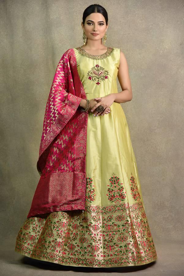 Pista Anarkali Dress | Surya sarees | House of Surya