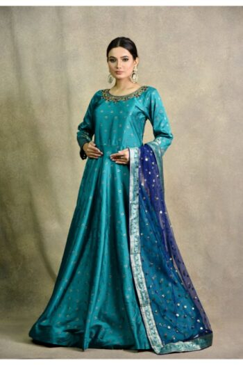 Peacock Green Anarkali Dress | Surya sarees | House of Surya