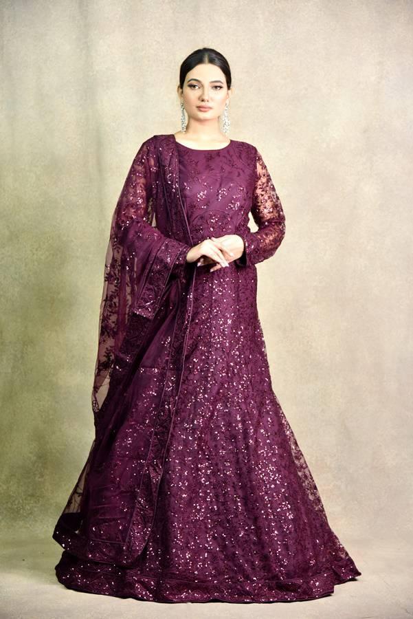 Wine Color Anarkali Dress | Surya Sarees | House of surya | chandni chowk | Old Delhi