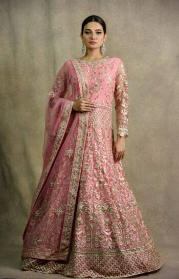 Gazri Pink Anarkali Dress | Surya Sarees | House of surya | chandni chowk | Old Delhi