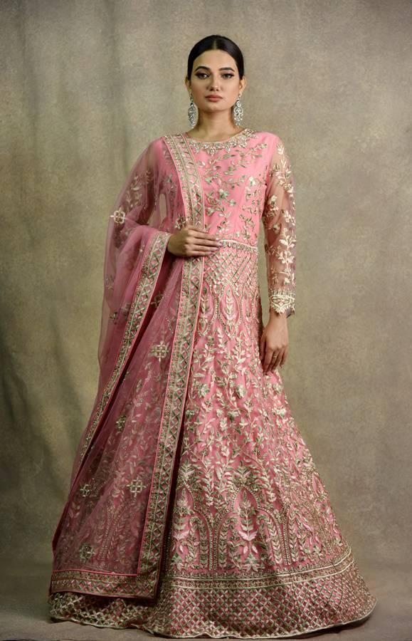 Gazri Pink Anarkali Dress   Surya Sarees   House of surya   chandni chowk   Old Delhi