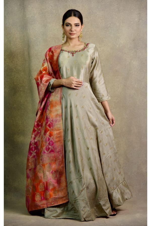 Chiku Anarkali Dress | Surya sarees | House of Surya