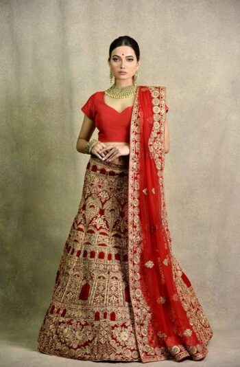 Designer Tomato red bridal Lehenga | Surya Sarees | House of surya | chandni chowk | Old Delhi