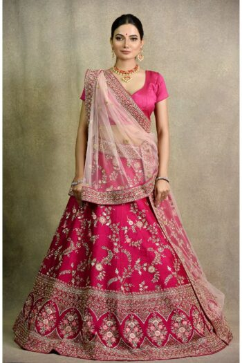 Hot Pink Bridal Lehenga | Surya sarees | House of surya