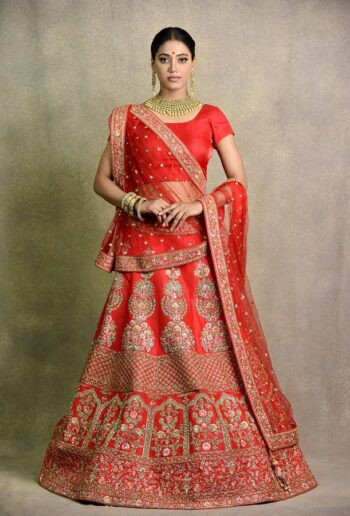 Tomato red bridal Lehenga | Surya Sarees | House of surya | chandni chowk | Old Delhi