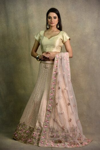 Light Pink Non-Bridal Lehenga | Surya sarees | House of surya