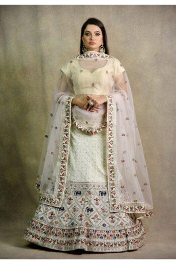 Light Cream Non Bridal Lehenga   Surya sarees   House of surya