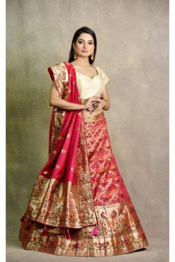 Rose Pink Non Bridal Lehenga | surya sarees | House of surya