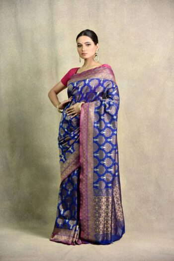 Silk Blue Saree | Surya saree | House of Surya