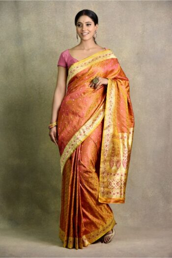 Short Yellow Saree | Surya Sarees | House of Surya