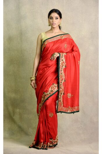 latest Red Bottle Green Saree | Surya Sarees | House of surya | chandni chowk | Old Delhi