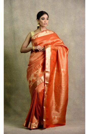 Buy latest orange saree in india