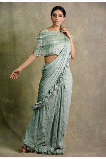 latest sea green saree| Surya Sarees | House of surya | chandni chowk | Old Delhi
