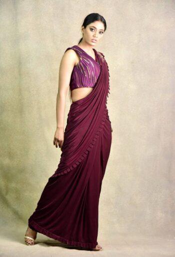 Latest silk wine saree | Surya Sarees | House of surya | chandni chowk | Old Delhi