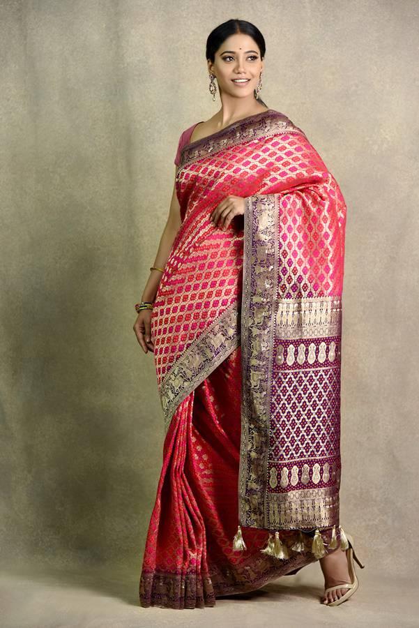 Rani And Purple Saree | Surya sarees | house of Surya