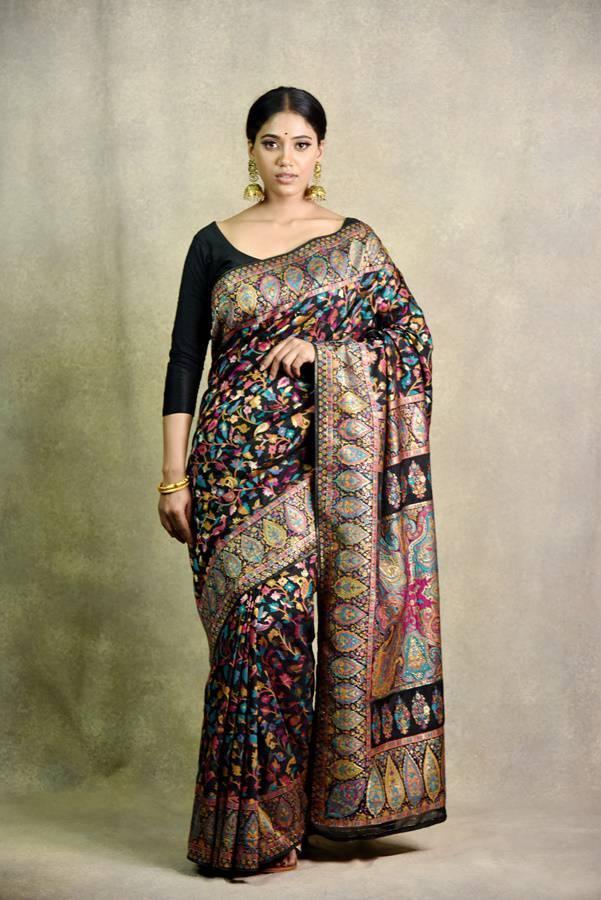 Black Silk Saree | Surya sarees | House of Surya
