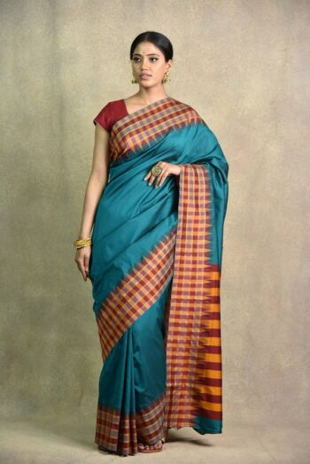 Rama Green Saree | Surya sarees | House of Surya