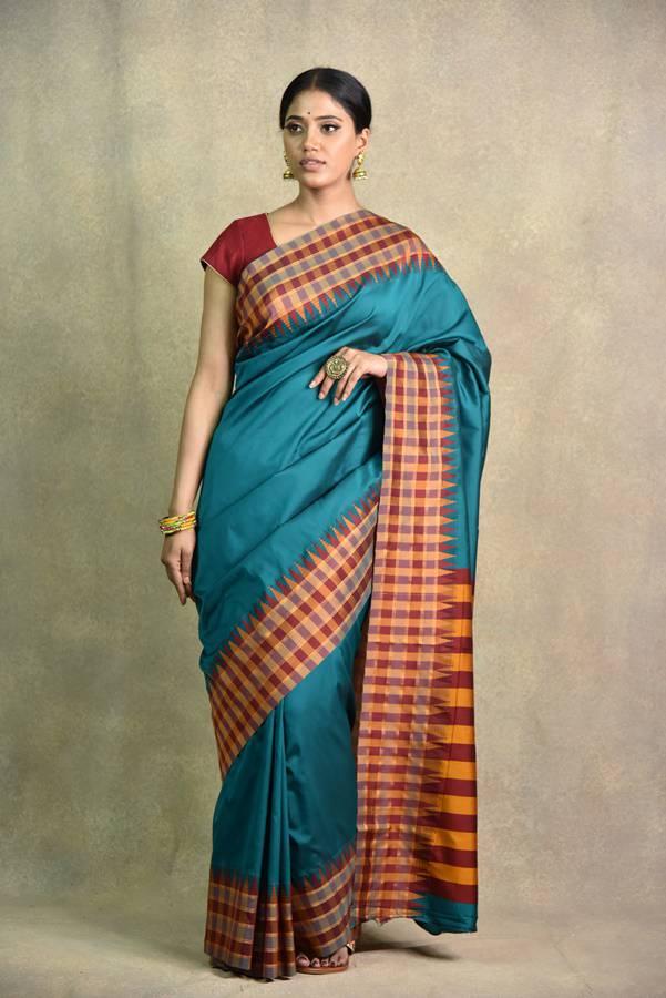 Rama Green Saree | Surya sarees | House of Surya