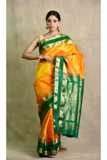 latest Yellow Green Saree | Surya Sarees | House of surya | chandni chowk | Old Delhi