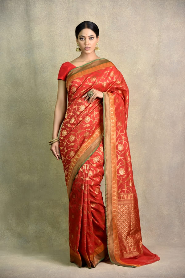 Surya sarees | Latest Red Saree in India