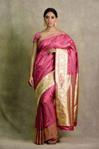 Surya Saree | Onion Pink Saree in Kerala