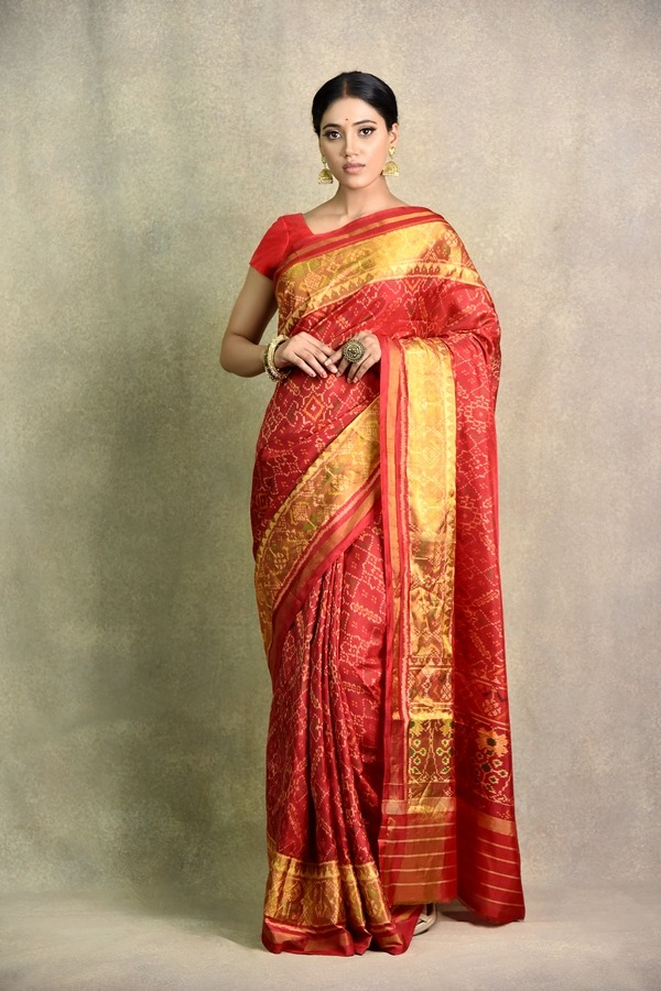 Surya Saree | buy best Redish Mehroon Saree in India
