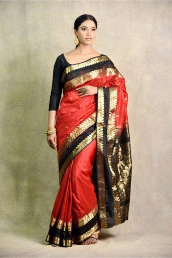 latest red and black Saree | Surya Sarees | House of surya | chandni chowk | Old Delhi