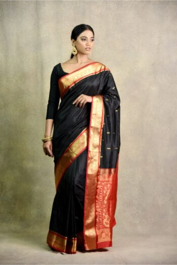 Surya Sarees | Black And Red Saree