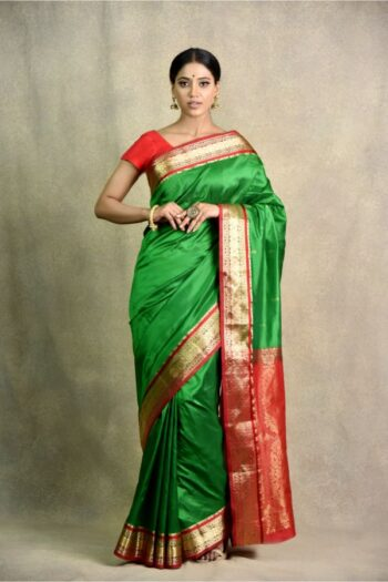latest green mehroon Saree | Surya Sarees | House of surya | chandni chowk | Old Delhi