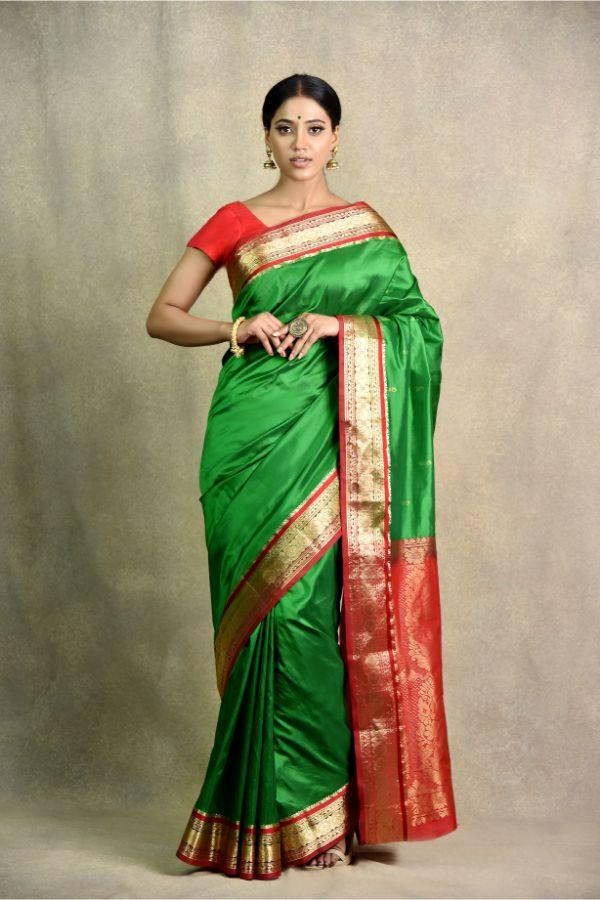 latest green mehroon Saree | Surya Sarees | House of surya | chandni chowk | Old Delhi