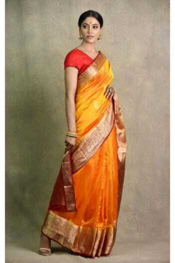 latest Yellow Red Saree | Surya Sarees | House of surya | chandni chowk | Old Delhi