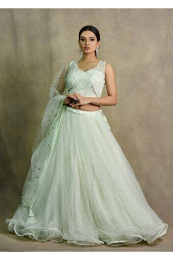 Mint Green Lehenga Choli | Surya Saree | House of Surya