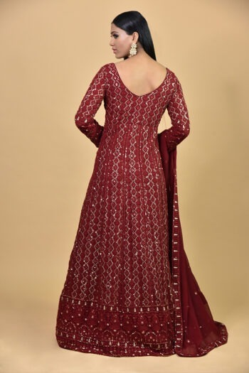 Maroon Ananrkali Dress