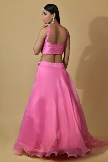 Fascia Pink Lehenga Choli
