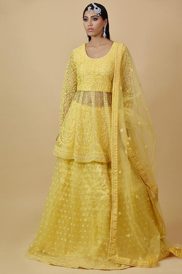 Yellow Anarkali Dress