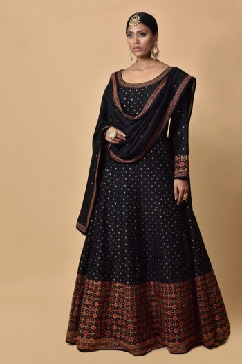 Zed Black Anarkali Dress