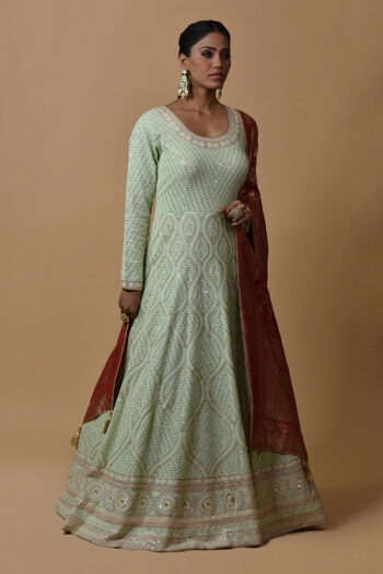 Sea Green Anarkali Dress