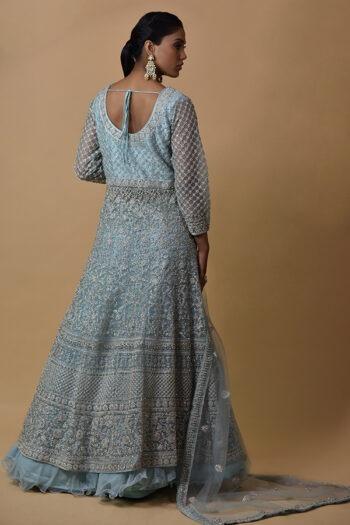 Eyes Blue Color Indowestern Dress