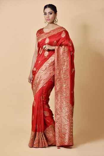 Surya Sarees | Red Silk Saree