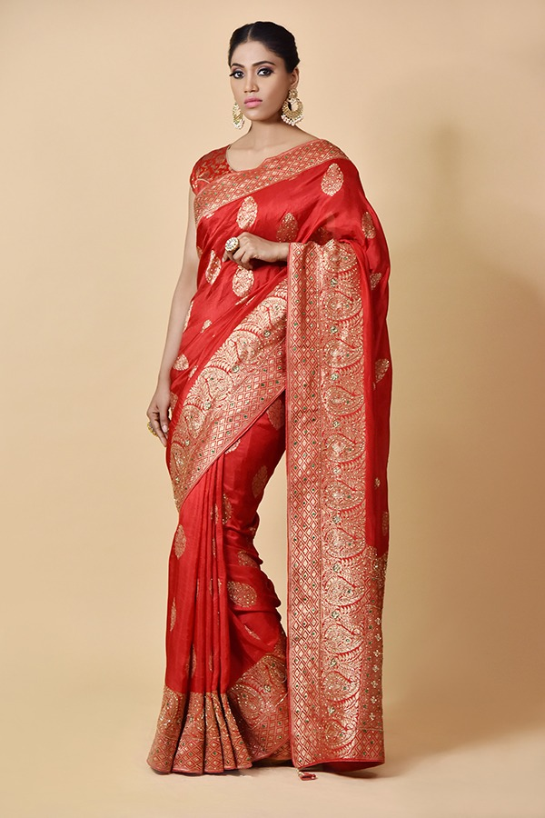 Surya Sarees | Red Silk Saree