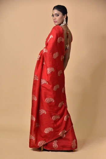 Red Dola Silk Saree