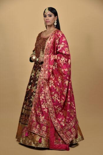 Coffee Brown Anarkali Dress
