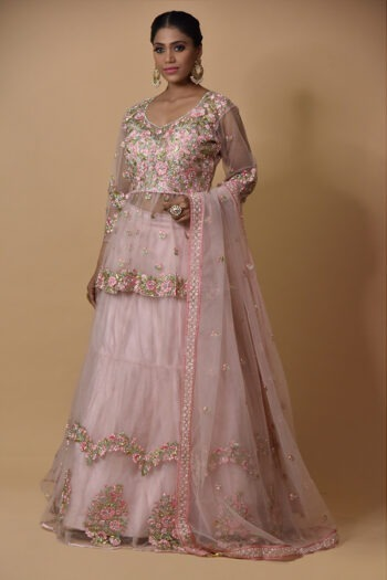 Light Peach Lehenga Choli