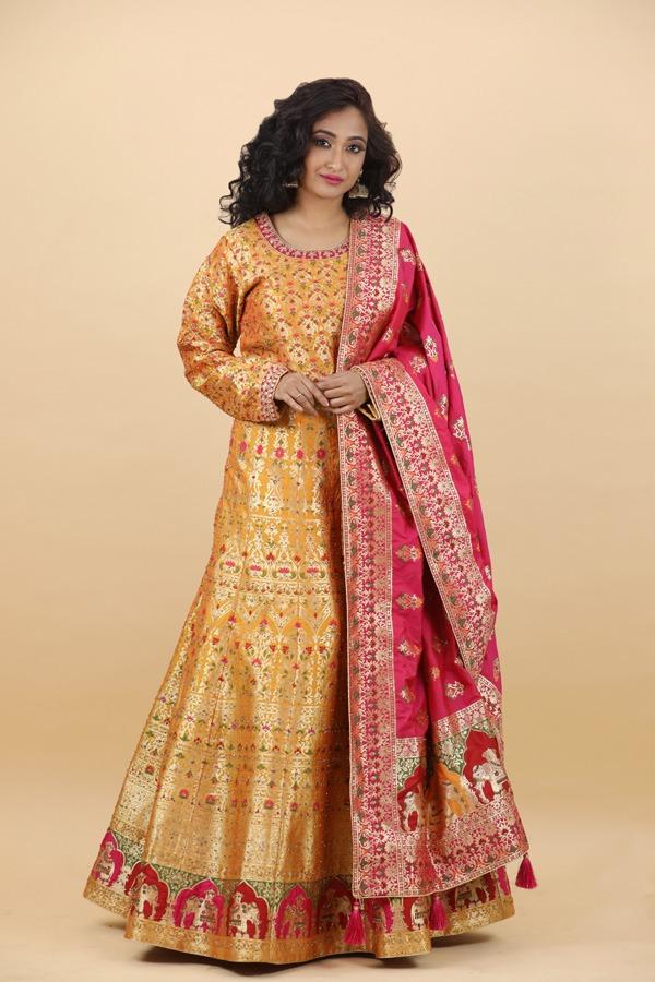 House of Surya | Yellow Dress |Surya Sarees) (122)