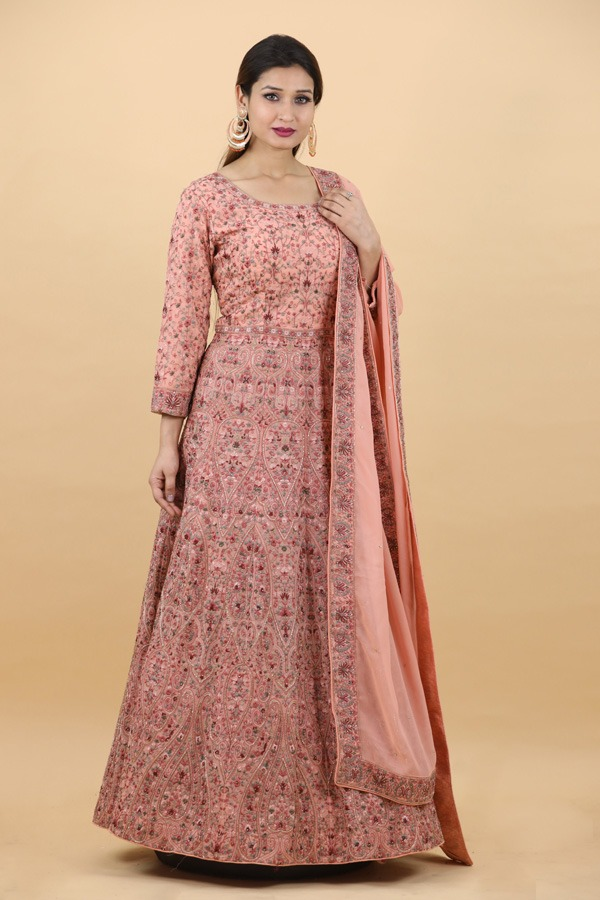 House of Surya | Onion Pink Gown | Surya Sarees