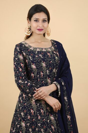 House of Surya | Neavy Blue Gown | Surya Sarees