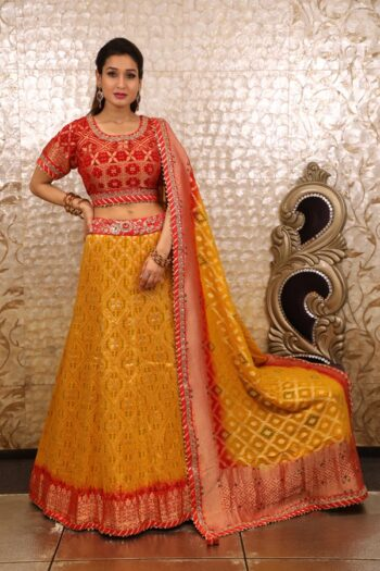 House of Surya | Yellow Lehenga Choli | Surya Sarees